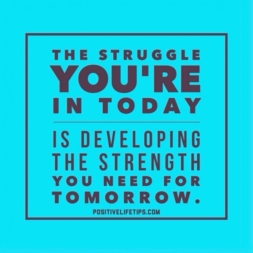 Berjuang terus, jangan biarkan kamu tampak lemah