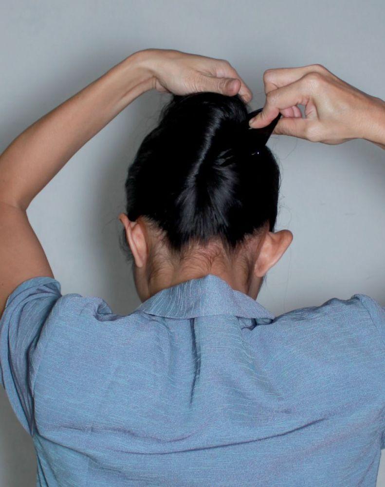 Menggelung rambut pun ada prosedurya