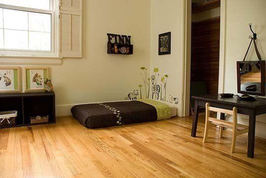 Tempat tidur tanpa rangka bisa terlihat menarik juga kok