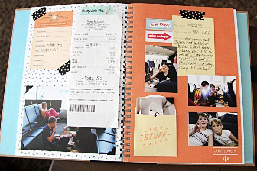 Scrapbook berisi foto dan catatan penting