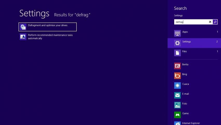 defrag di windows 8