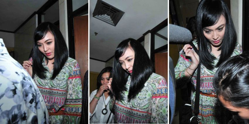 Rambut mempesona Angie Sondakh. (Credit: Antara)
