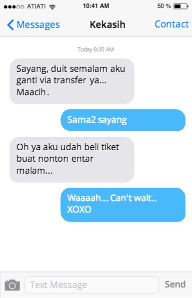 Yang beginian lewat SMS aja