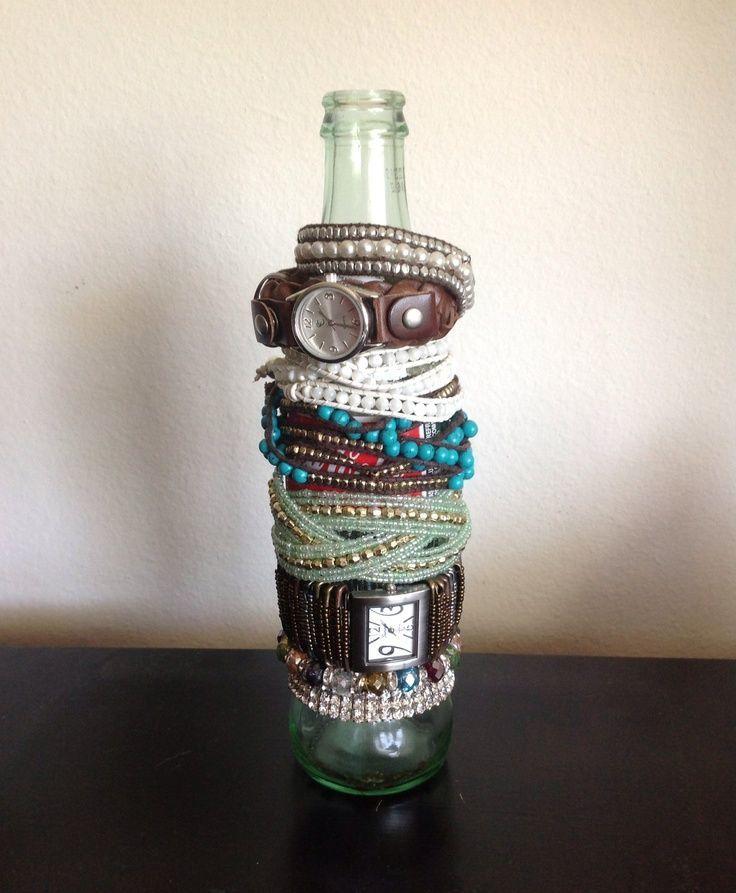 botol jadi teman buat gelang dan jammu