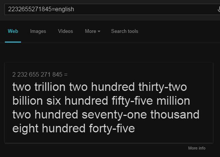 Melafalkan angka yang panjang