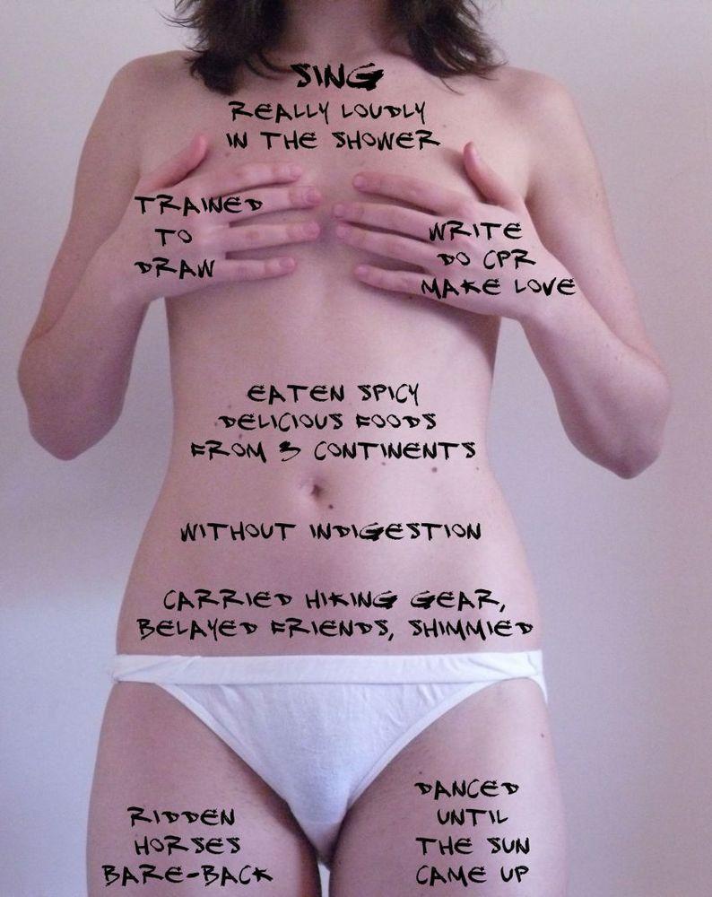 Terima bentuk tubuhmu