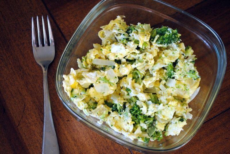 Brokoli dan telur orak arik