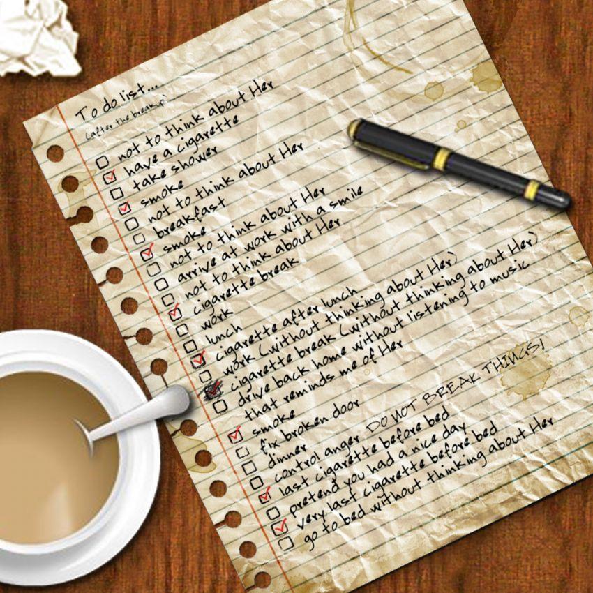 Membuat daftar pekerjaan di awal hari