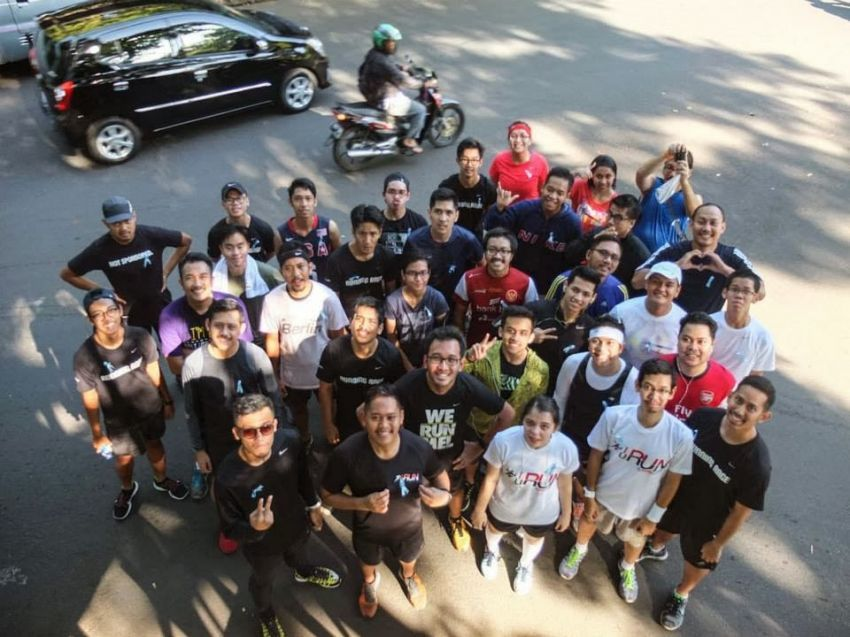 Movember run di Indonesia