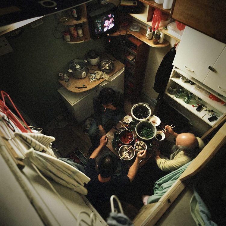 Cramped apartment