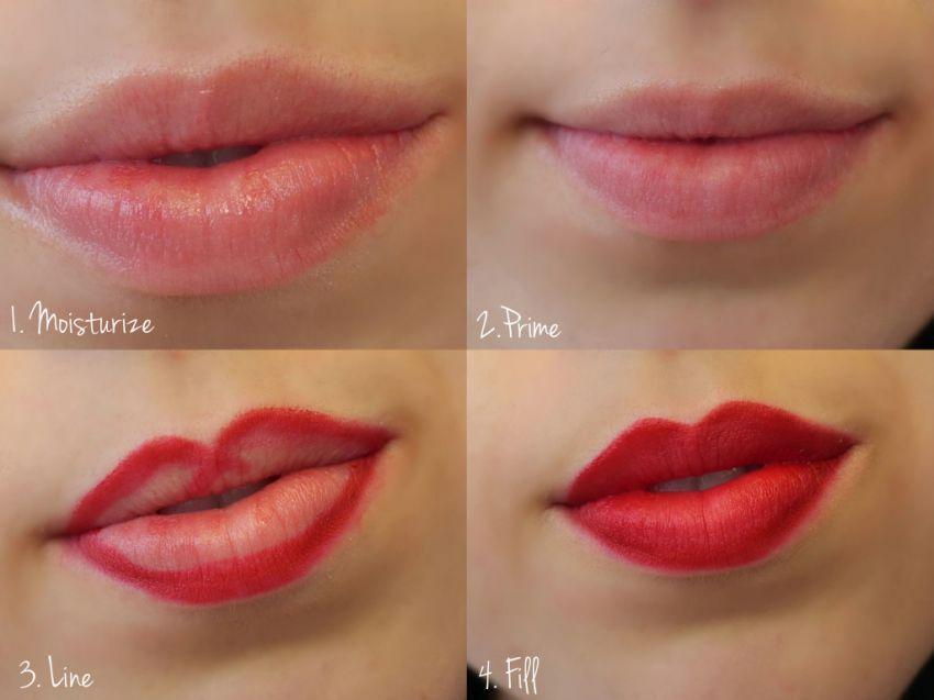 Gambar X di bibir