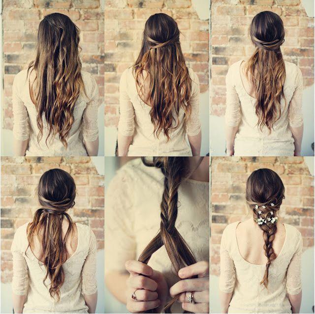 Gaya rambut panjang menjuntai untuk kepesta