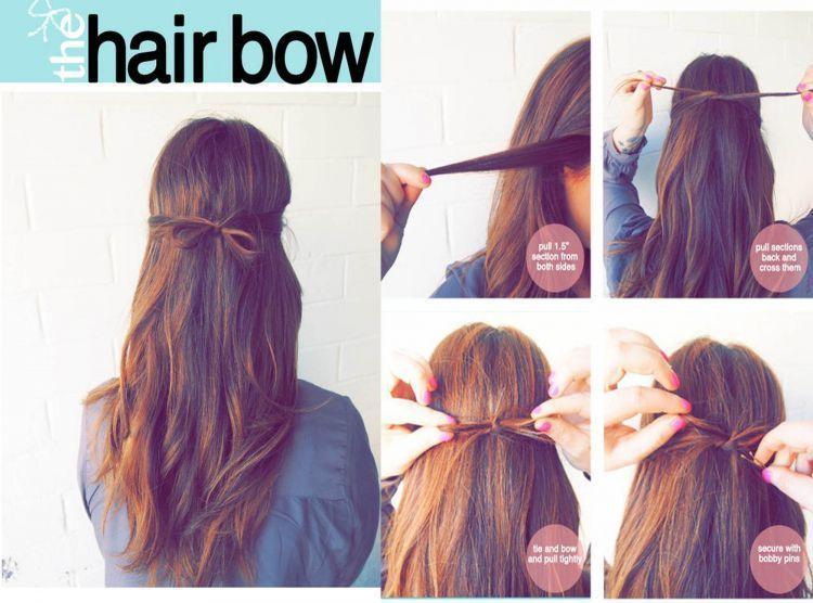 Rambut cantik dengan pita rambut