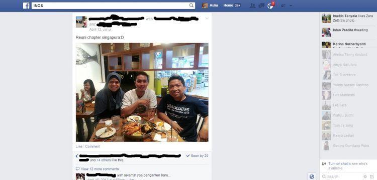 Kenangan manis di Facebook