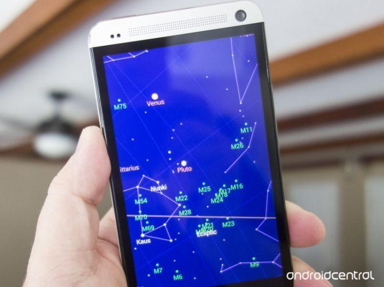 Bintang di layar ponsel
