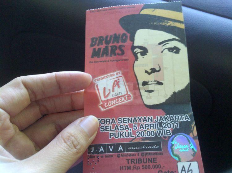Tiket konser Bruno Mars