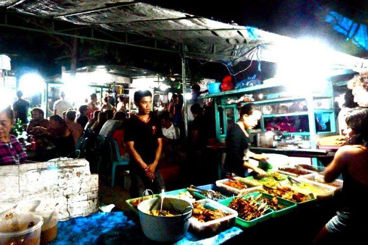 Pasar malam Gili Trawangan.