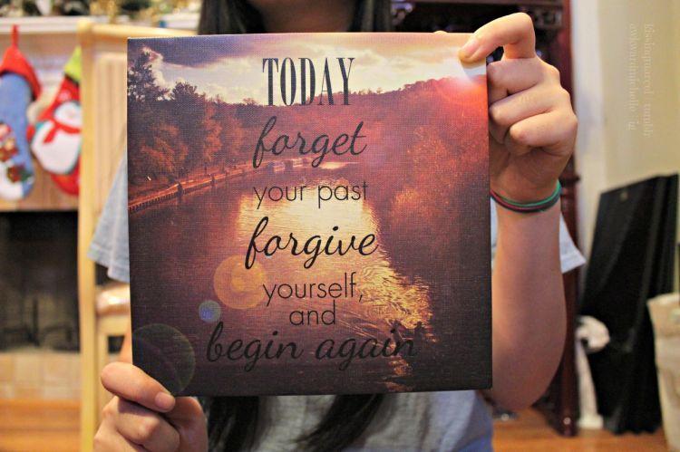 Proses tersulit adalah memaafkan diri sendiri
