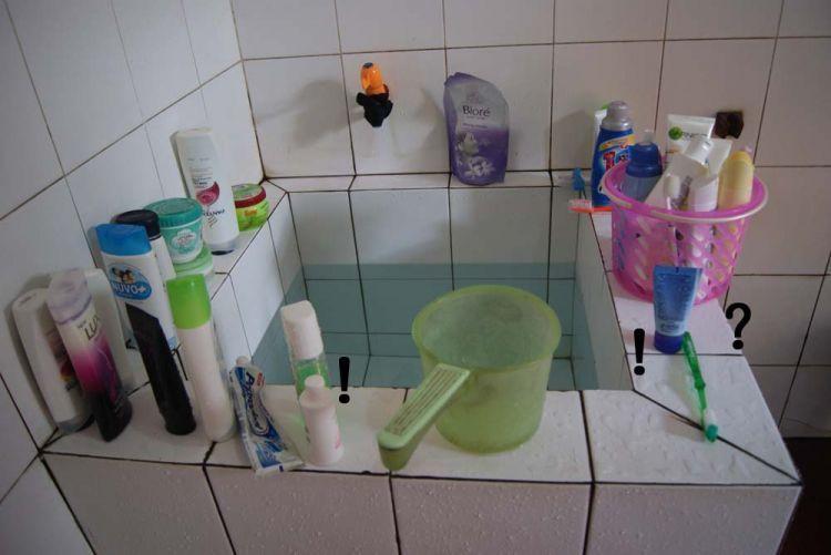 berbagi pasta gigi dan sabun mandi