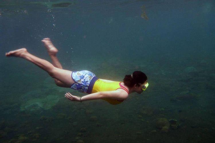 Incaran para wisatawan, keindahan alam bawah lau Sebuku