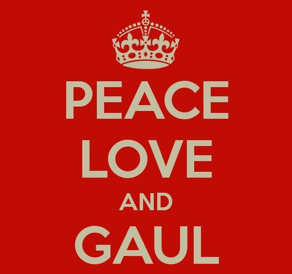 Peace, love, and gaul~~