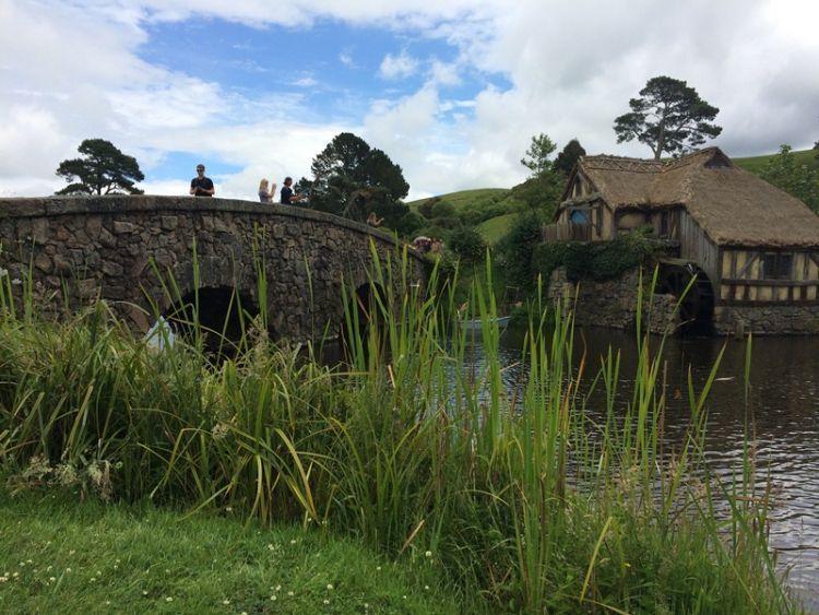 Salah satu sudut Hobbiton, Matamata, via Azarine Kyla Arinta.