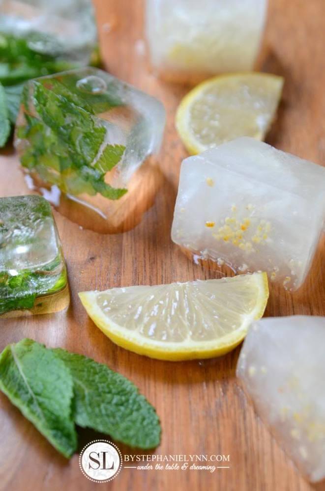 lemon dan daun mint
