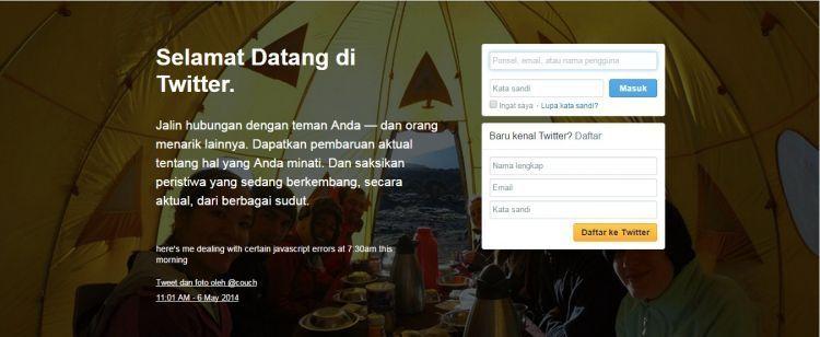 Twitter bahasa Indonesia itu ganjil