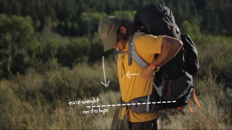 Memfokuskan beban ke pinggul