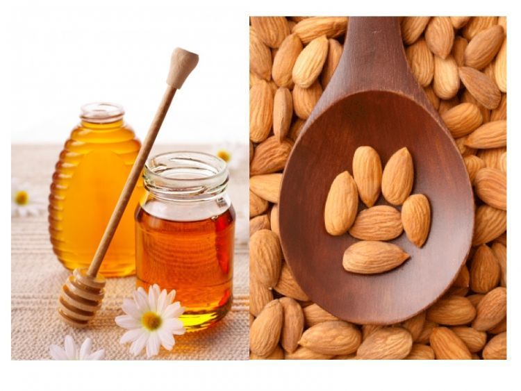 madu dan tepung almond