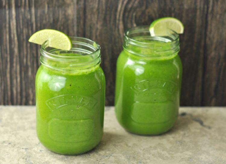 jus hijau untuk menolak lemak