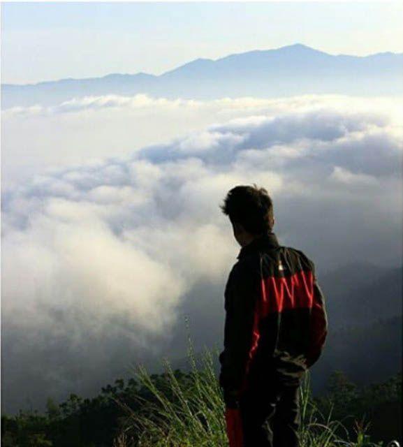 Samudera di atas awan dari Gunung Gajah, Sambit
