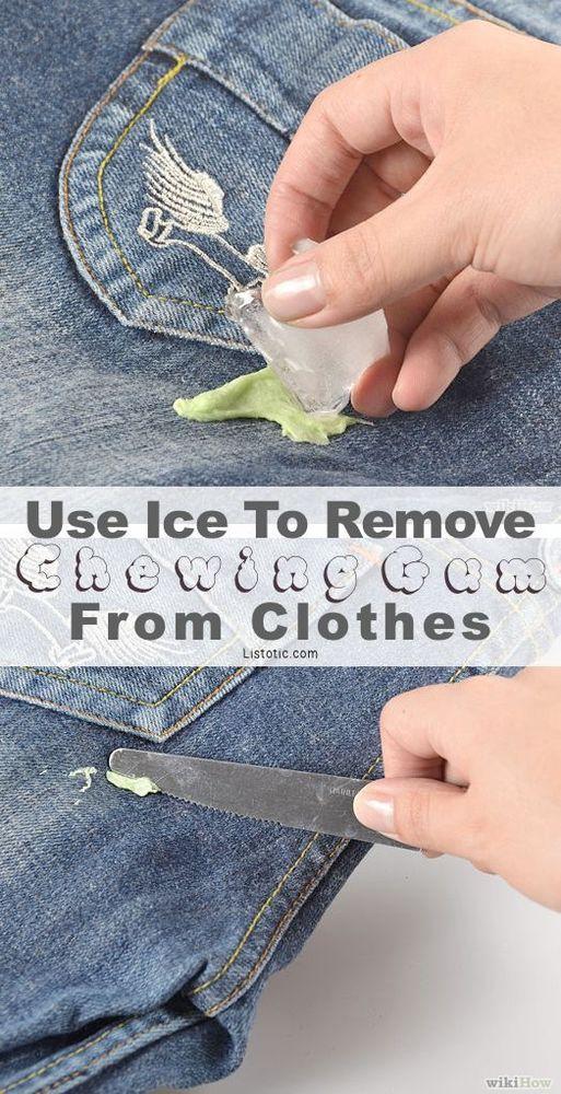 Cara membersihkan celana dan permen karet