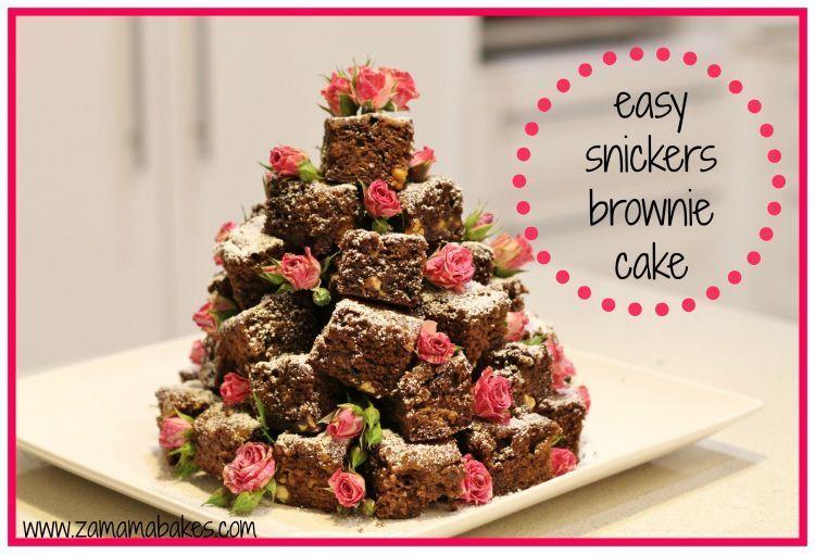 Kudapan kesukaan juga oke. Snickers brownies, misalnya?