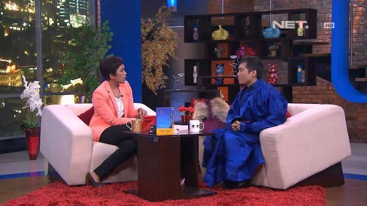 Wawancara dengan Agustinus Wibowo di salah satu stasiun TV swasta