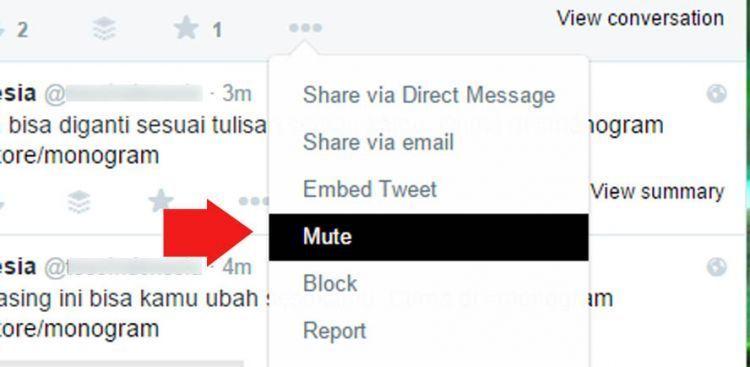 Mute account