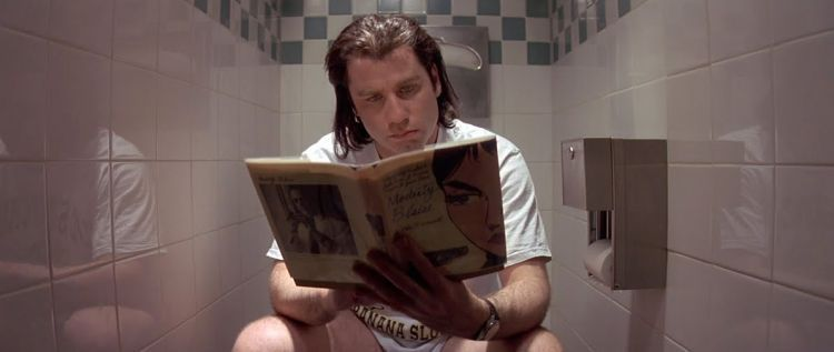 Lebih konsen kalau baca di toilet