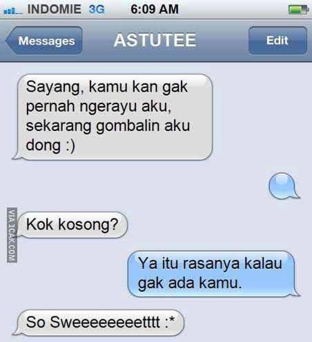 SMS sama pacar