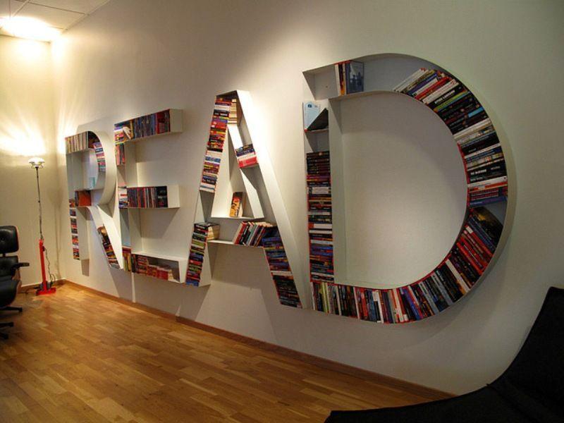 Perpustakaan di rumah yang unik
