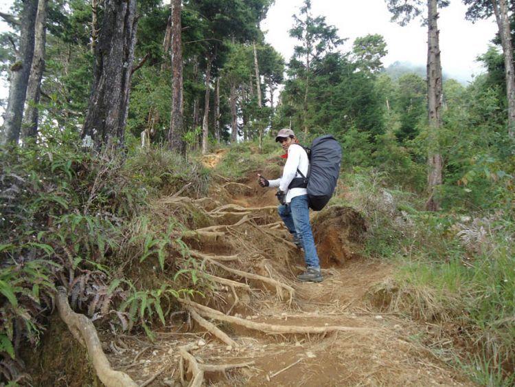 jalur pendakian yang singkat