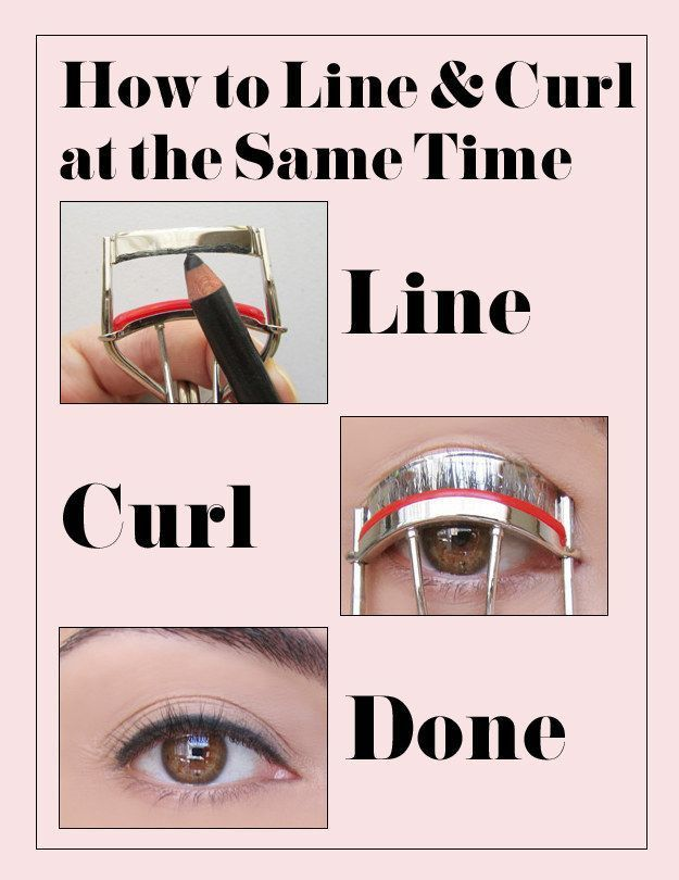 Mengeriting bulu mata sekaligus pakai eyeliner