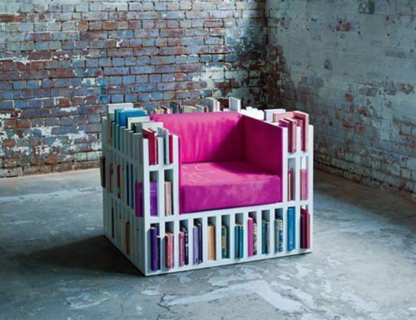 Sofa jadi rak buku