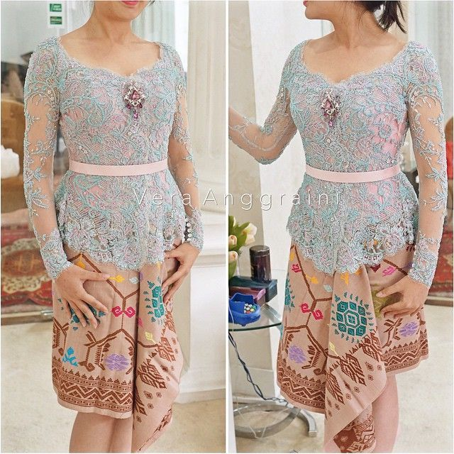 Rok kain songket model rimpel