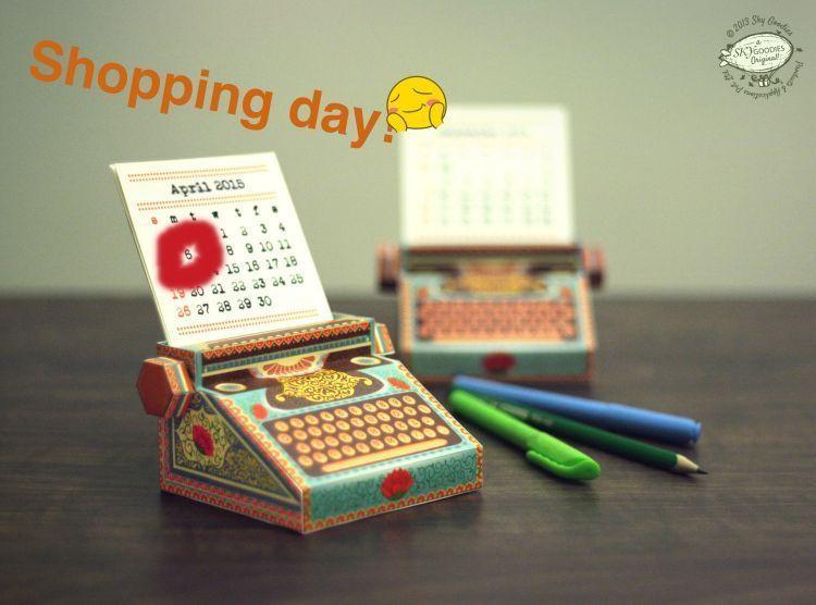 Tetapkan satu tanggal keramat yang jadi hari belanjamu