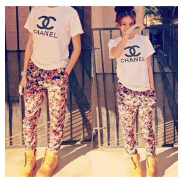 tumblr tee with baggy pant
