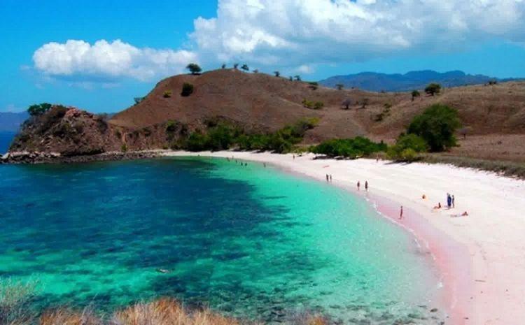 Pantai berpasir pink di Lombok