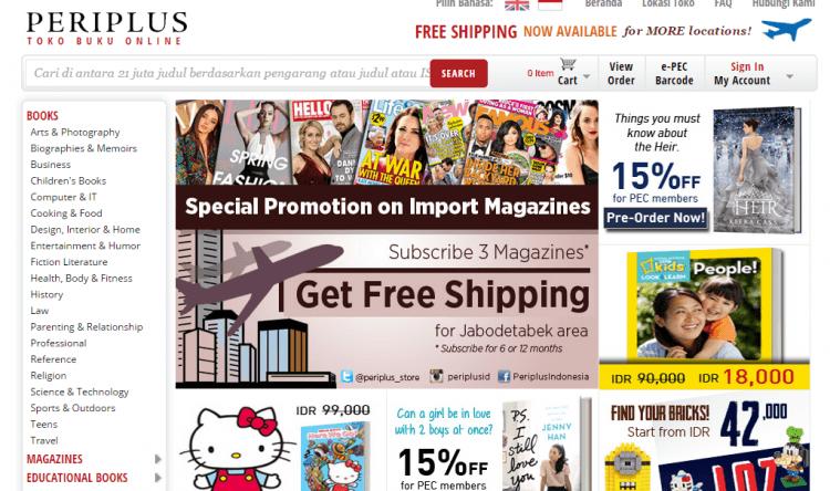 Situs online penjual buku