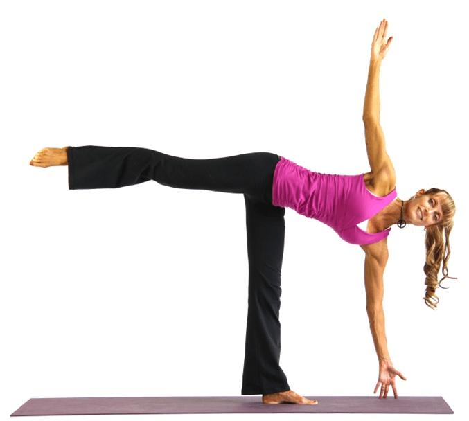 Pose half moon yoga