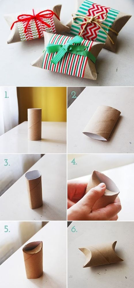 Nggak nyangka 'kan kalau karton tisu juga bisa jadi bungkus kado?