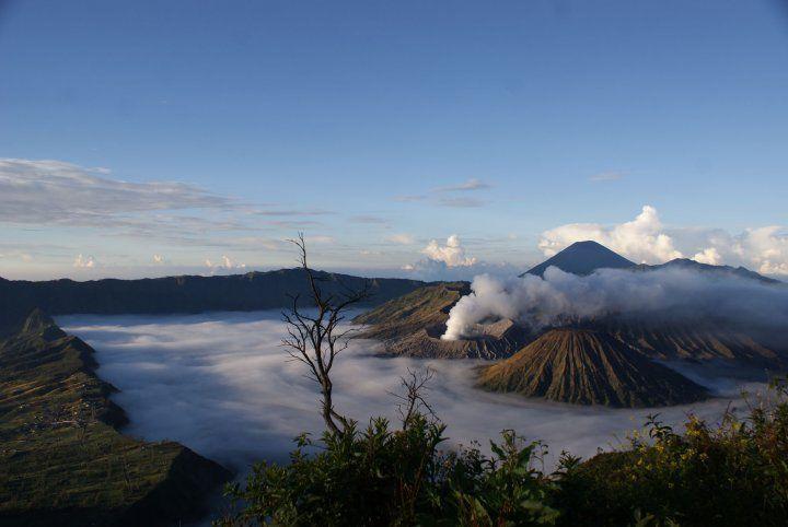 Wisata alam Gunung Bromo juga terletak di Malang.